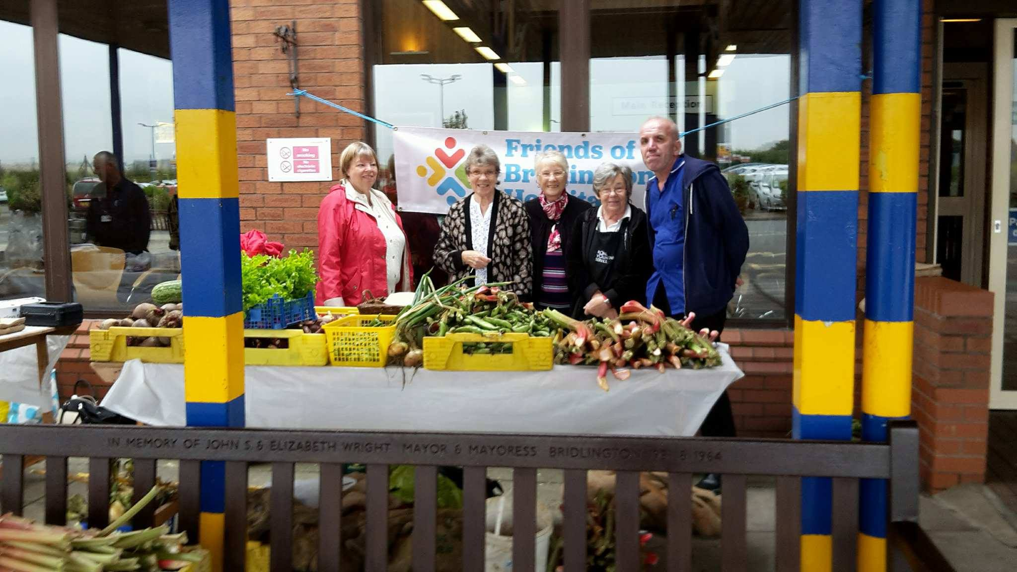 Selling garden produce to raise yet more funds